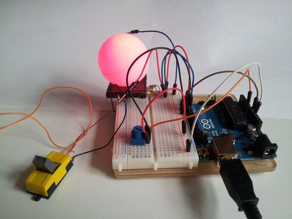 pingpong lampe mit arduino ecotronics blog. Black Bedroom Furniture Sets. Home Design Ideas